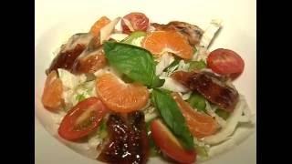 Утренний бутерброд (10.09.16.) Салат с угрем и мандаринами