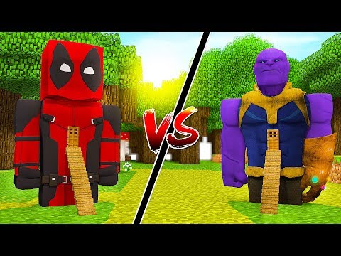 CASA DEADPOOL 2 vs CASA THANOS NO MINECRAFT !!