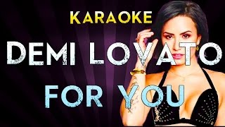 Demi Lovato - For You | Official Karaoke Instrumental Lyrics Cover Sing Along