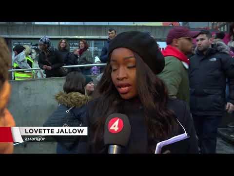 Tusentals i manifestation mot slavhandel - Nyheterna (TV4)