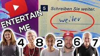 Die LUSTIGSTEN Antworten in Klassenarbeiten! - ENTERTAIN ME - Staffel 4 Folge 2