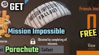 Get MISSION IMPOSSIBLE Parachute in PUBG Mobile