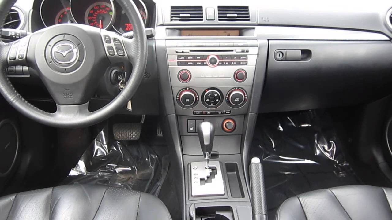 2007 mazda 3 phantom purple stock m1402881 interior youtube