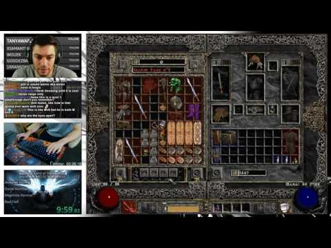 Diablo 2 - HELL MELEE SORCERESS SPEEDRUN (with plugy gear)