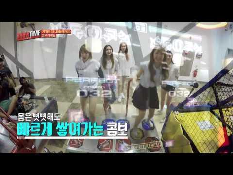 EXID Plays Pump It Up @ Dongdaemun (동대문)