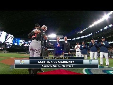 MIA@SEA: Mariners honor Ichiro prior to game