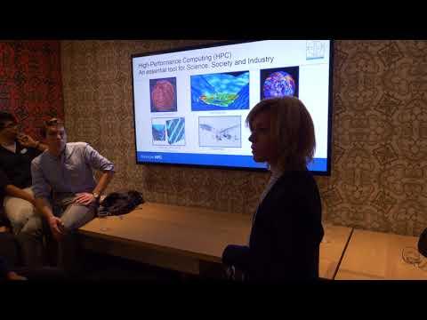 Clustervision.com holding a presentation at Amsterdam Tech Job Fair - 29th November 2017