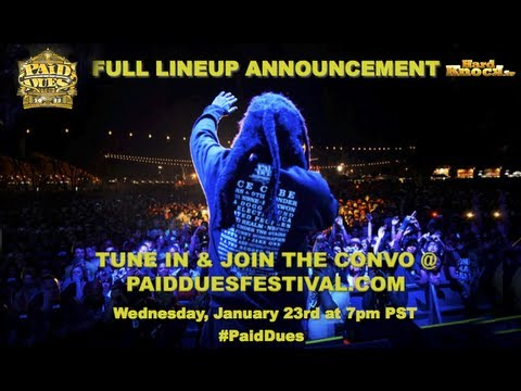 Murs announces full Paid Dues Line up, talks to fans + special surprise