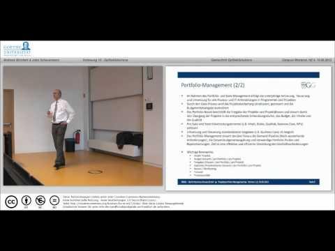 Teil 10 - Aufgaben des Demand-Management und Portfolio Management