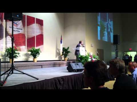 Don Bates Jr. Singing God Bless The USA at Herman Cain Rally.MOV
