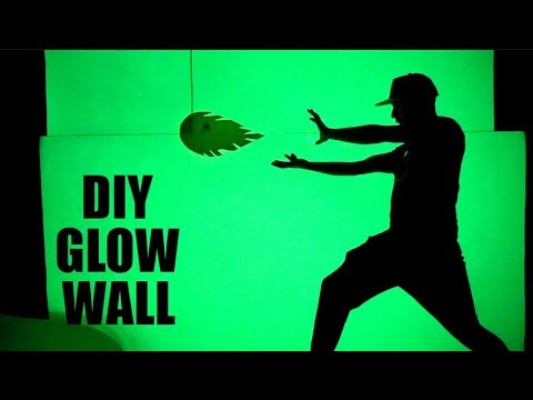 How to Make a GLOW IN THE DARK wall like Mark Rober!