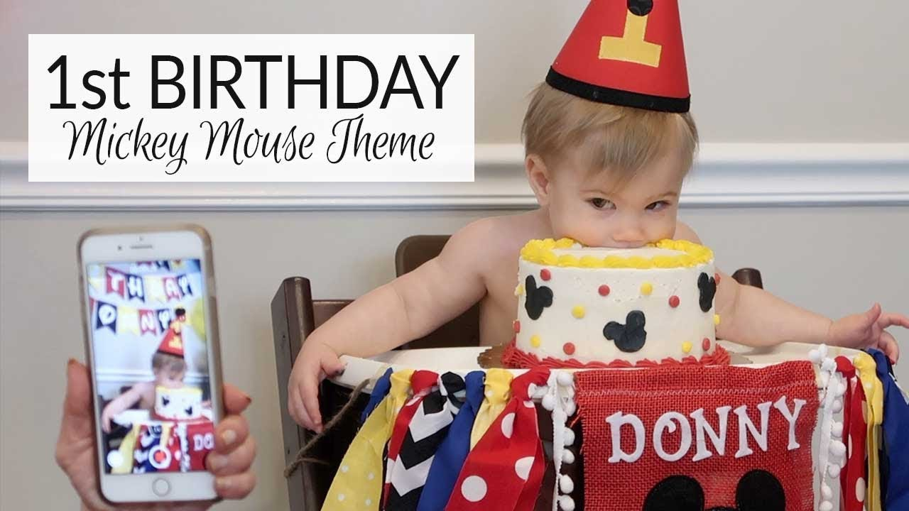 1st Birthday Party Mickey Mouse Theme Youtube