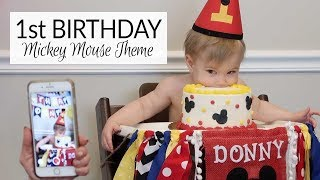 1st Birthday Party | Mickey Mouse Theme