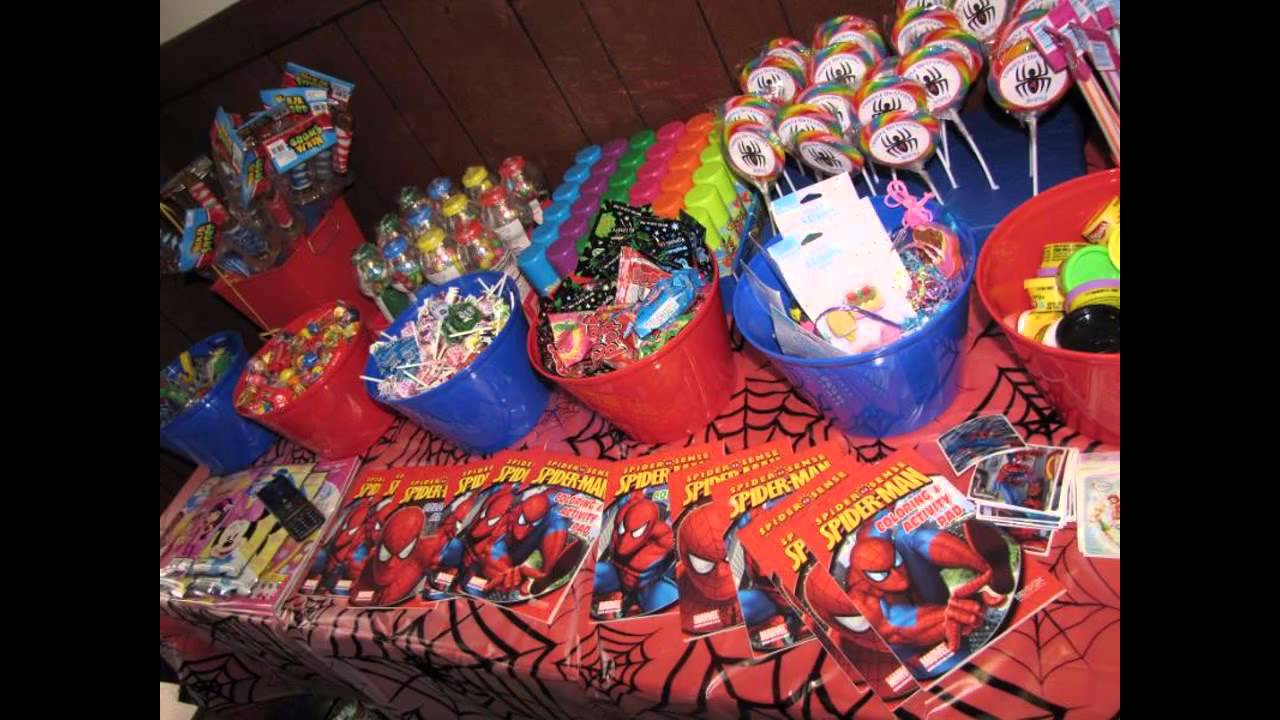 Cool spiderman birthday party decorations ideas youtube for Spiderman decorations