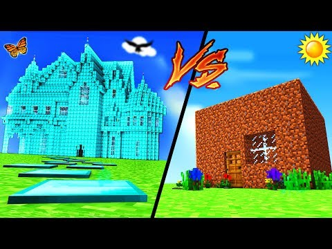 Minecraft - DIAMOND HOUSE VS DIRT HOUSE