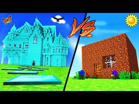 Minecraft - DIAMOND HOUSE VS DIRT HOUSE