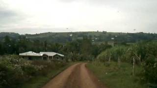 Driving Through Farm Roads in Valencia Bukidnon Philippines
