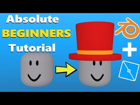 How To Make Your Own Roblox Hat Roblox Blender Tutorial Youtube