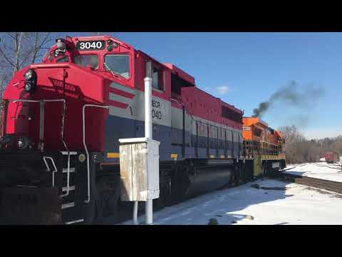 President's Day Railfanning In Palmer, MA & On The Springfield Line