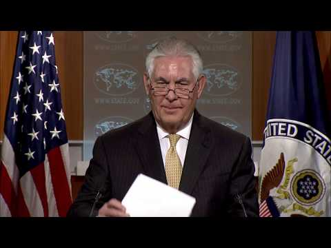 MUST WATCH: Secretary Rex Tillerson State Department Press Briefing North Korea,Russia, John Kelly