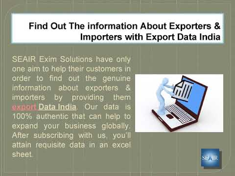 Find Out The information About Exporters & Importers with export Data India