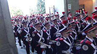 The Ohio State Marching Band Marches into the Stadium Sings I Wanna Go Back 9 27 2014