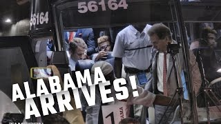 Watch Alabama arrive for a showdown with USC