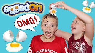 EGGED ON - Extreme Messy Fun Food Challenge || Family Game Night