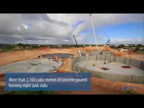 Wastewater Treatment Plant Construction Timelapse |Woodman Point, Western Australia