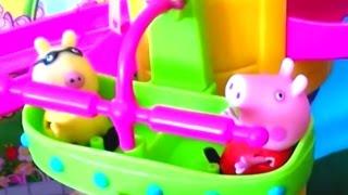 Мультфильм игрушками Свинка Пиги Pig Свинка Пепа  Веселые качели Атракционы