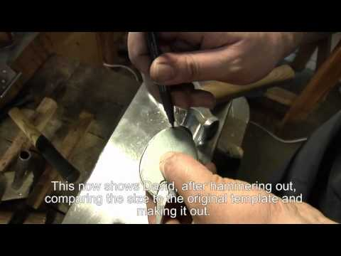 A Handforged sterling silver flatware spoon been made