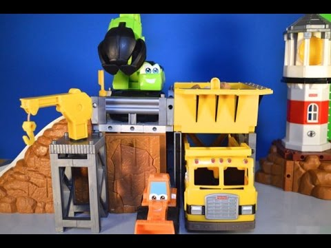 Mighty Machines Construction Play Site Tonka Chuck & Fisher Price Dump Truck Play-Doh Rocks