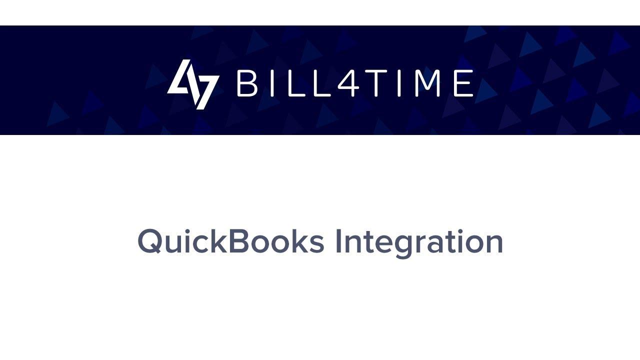 Bill4Time QuickBooks Integration