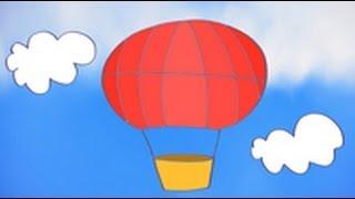 Dibujos de transportes para niños. Cómo dibujar un globo