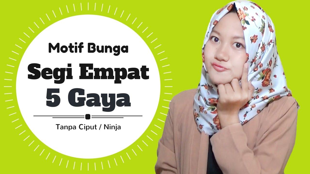 Tutorial Hijab Segi Empat 5 Gaya Motif Bunga Terbaru Sehari Hari Nmy Hijab Tutorials Youtube