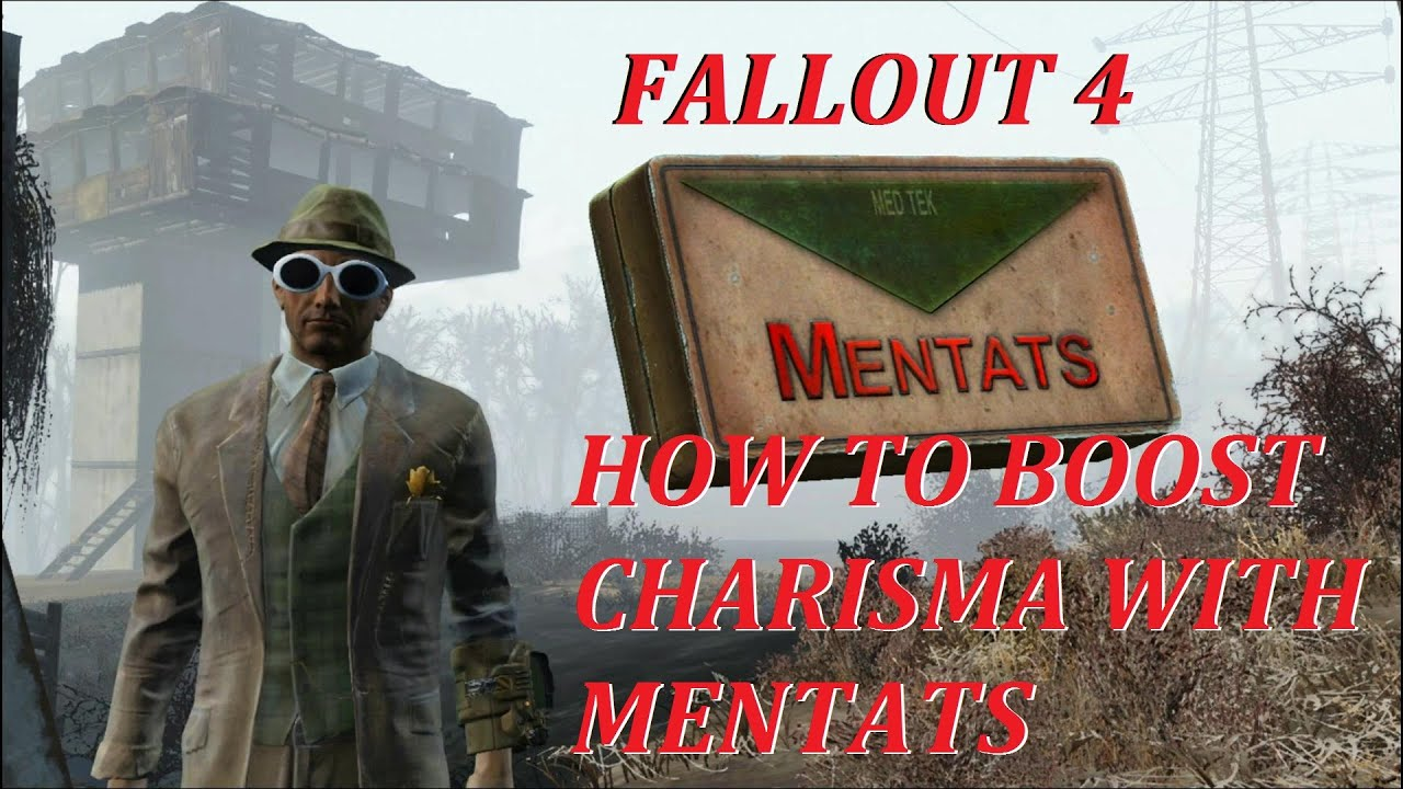 How To Boost Charisma With Mentats Fallout 4 Youtube