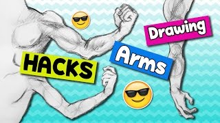 ▼ HACKS on How to Draw ARM POSES EASILY ▼ Muscular & Slender / Thin Arms▼ Artist LIFE HACKS