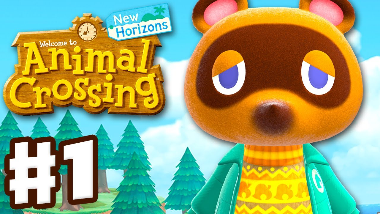 Animal Crossing: New Horizons - Gameplay Walkthrough Part 1 - First Day on a New Island!