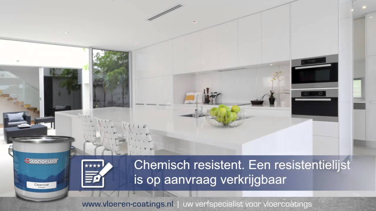 Vloeren Coatings Nl : Scanofloor clearfinish youtube