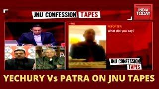 Watch Sitaram Yechury And Sambit Patra Reacting To JNU Confession Tapes