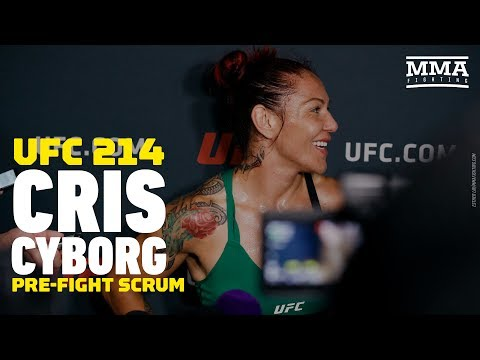 Cris Cyborg UFC 214 Open Workout Media Scrum - MMA Fighting