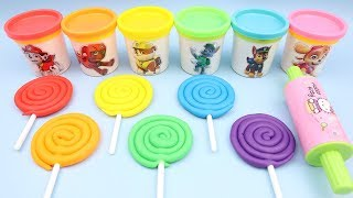 Learn Colors with Play Doh Characters Mold Ice Cream Paw Patrol PJ Masks Toys Kinder Surprise Eggs