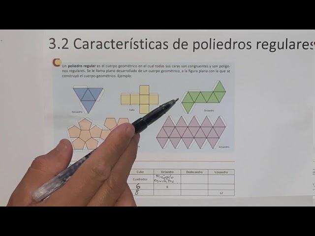 3 2 Características De Poliedros Regulares Numeral 1 Youtube
