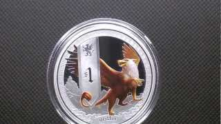 TUVALU 2013 - $1 Mythical Creatures - Griffin