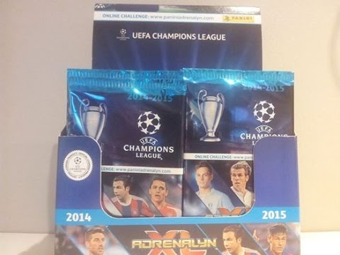 █▬█ █ ▀█▀ - BOX PANINI CHAMPIONS LEAGUE 2014/2015 - unboxing boosters
