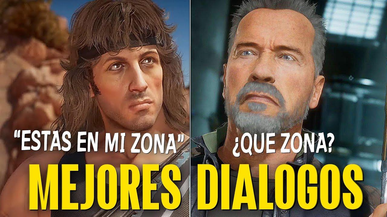 MORTAL KOMBAT 11 - RAMBO - DIALOGOS MAS SALVAJES -DIVERTIDOS + BURLAS + RESPUESTAS EN ESPAÑOL LATINO