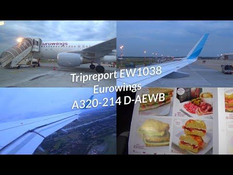 Tripreport Eurowings A320 Basic EW1038 Düsseldorf Hamburg || D-AEWB
