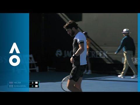Gerald Melzer v Nikoloz Basilashvili match highlights (1R) | Australian Open 2018