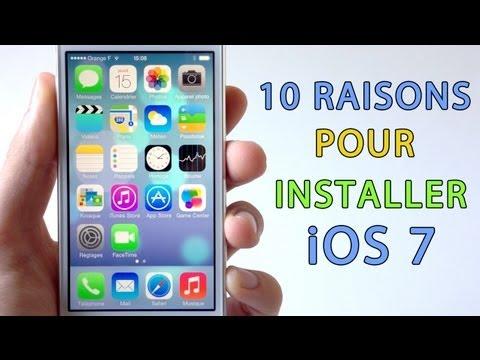 10 Bonnes raisons pour installer iOS 7