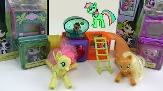 Флаттершай и ее личный Littlest Pet Shop! Май Литл Пони Мультик от Kiwi Show. Серия 1